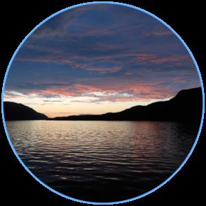 licht van avondrood in Noorwegen