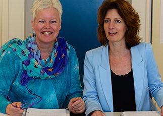 Margrete Stoute en Karin Tooren, foto Renate Tauber